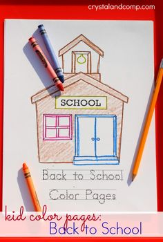 kid color pages back to school with handwriting practice