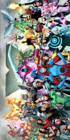 Uncanny X-Men variant cover by David Marquez, colours by Rachelle Rosenberg * Arte Dc Comics, Marvel Xmen, Marvel Comics Art, Marvel Comic Universe, Bd Comics, Comics Universe, Marvel Heroes, Comic Books Art, Comic Art