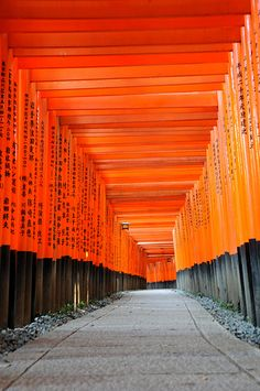 Endless shrine gates, Fushima-Inari Taisha, Kyoto