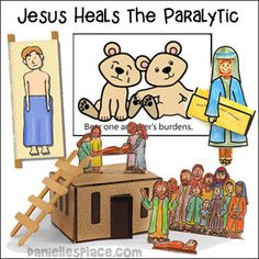 Jesus Heals The Paralyzed Man Bible Crafts And Lesson From Daniellesplace