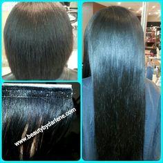 Look Ma, NO Braids! :-) Custom #Seamless #HairExtensions with  Vietnamese Bella Straight Hair from Beautiful Hair LLC #beautybydarlene #beautifulhairllc #smooth #flat #hair #jacksonville #mandarin #homecoming look 904-398-9777