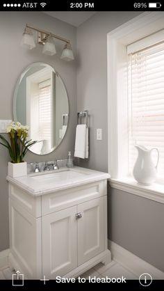Half bathroom ideas with vessel phenomenal powder room ideas half bath designs design build small bathroom . Cheap Bathroom Vanities, Cheap Bathrooms, Grey Bathrooms, White Bathroom, Bathroom Ideas, Bathroom Small, Bathroom Cabinets, Wood Cabinets, Bathroom Designs