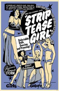 Strip Tease Girl Masterprint