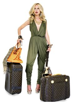 Awesome luggage, jumpsuit, bag. RZ <3
