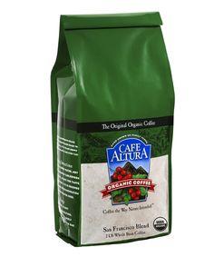 Cafe Altura Whole Bean Organic Coffee, San Francisco Blend, 2 Pound