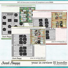 Cindys Layered Templates - Year in Review III Bundle by Cindy Schneider $5