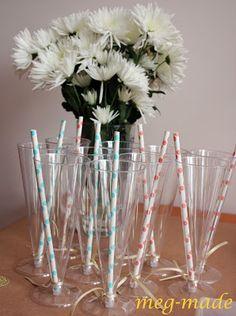 Baby sprinkle: fun stripe straws
