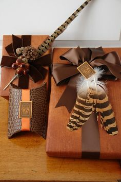 GORGEOUS gift wrapping from Design section of CR website | Carolyne Roehm