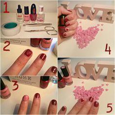 Everyday is a fashion show!: Tutorial unghie San Valentino, san valentine ideas, san valentine nails, idee beauty san valentino, nails, hearts, heart, san valentine, nails, diy