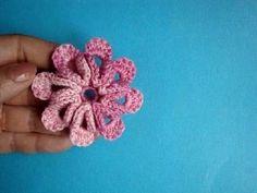 Вязаные крючком цветы Урок 32 Crochet flower pattern
