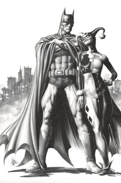 Batman and Harley Quinn by Mike Deodato Jr. *