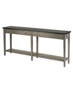"""Currey & Company Large Westrow Console - Antique Ebony & Natural - FURNITURE - Tables - Consoles H:33"""" W:75"""" D:15"""", $1370"""