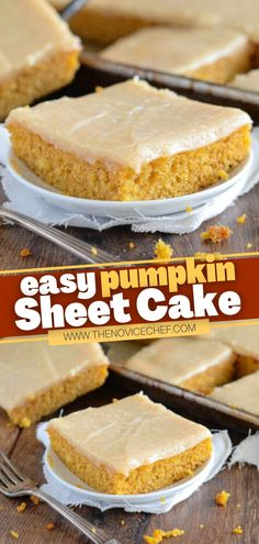 Once this crazy delicious Pumpkin Sheet Cake is on your Thanksgiving table, everyone will be dying for a slice! It couldn't be easier to make this recipe from scratch. In just 30 minutes, you can have a moist homemade dessert with a cinnamon cream cheese icing! Cream Cheese Icing, Cinnamon Cream Cheeses, Homemade Desserts, Dessert Recipes, Pumpkin Sheet Cake, Recipe From Scratch, Thanksgiving Desserts, Fall Recipes, Pumpkin Spice