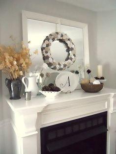 Winter Mantel w/ Sweater Wreath