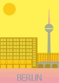 Berlin - #illustration #poster  - for more inspiration visit http://pinterest.com/franpestel/boards/