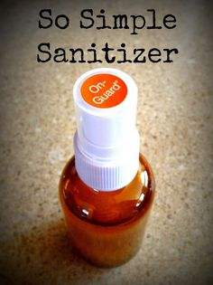 So Simple Sanitizer is an easy-to-make, all-natural hand sanitizer using doTERRA's OnGuard essential oil blend