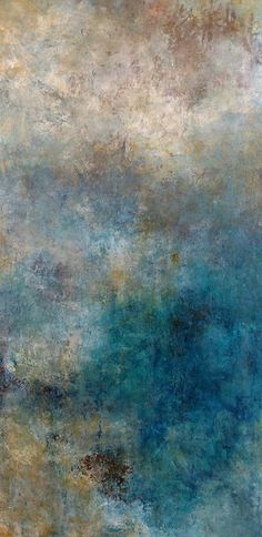 Into the Shalllows by Mary Mendla Oil/cold wax/mixed media ~ 36 x 18 Blue Abstract Painting, Faux Painting, Stencil Painting, Wax Art, Goth Art, Beginner Painting, Cute Wallpaper Backgrounds, Landscape Paintings, Landscape Pictures