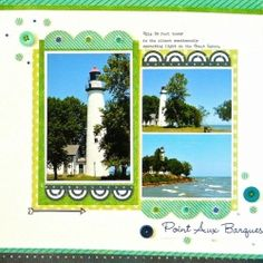 Cool Colors: Point Aux Barques (Sue Althouse) - Creative Team Layouts - Gallery