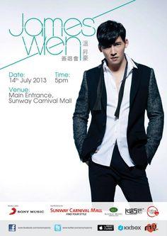 James Wen 14 Jul 2013 5pm Sunway Carnival Mall