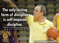 """""""The only lasting form of discipline is self-imposed discipline. Basketball Quotes, Mind Over Matter, Famous Quotes, Deep Thoughts, Motivation Inspiration, English Language, Language Arts, Self Love, Wise Words"""