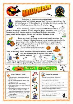 What Is Halloween, Halloween History, Halloween Science, Halloween Activities, Happy Halloween, Halloween Treats, Halloween Vocabulary, Halloween Worksheets, Worksheets For Kids