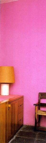 Luis Barragan.  Hot pink walls. Love & Romance & Good Relationships R Enhanced w/ PowerFengShui.