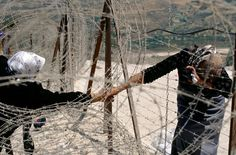 Eric Bouvet,at the border between Israel and Lebanon, 2000