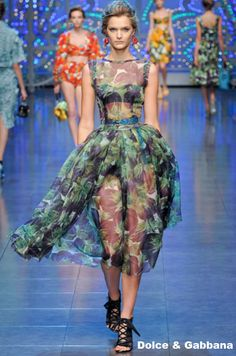 sheer delight: Dolce and Gabbana SS 2012