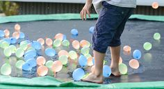 If you are looking to keep things frugal this summer, then you& definitely want to try all of these ideas on this list of 30 fun and cheap things to do this summer with kids. Trampoline Games, Best Trampoline, Backyard Trampoline, Trampolines, Holiday Activities, Summer Activities, Sensory Activities, Things That Bounce, Things To Do