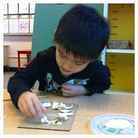 """""""That is beautiful. Materials are very important to the kindergarten classroom. Hundreds of colours, shapes, and textures. Kindergarten Classroom, Colours, Shapes, Texture, Learning, Projects, Beautiful, Surface Finish, Log Projects"""