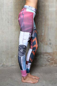 b636f5a02df5 Electric   Rose Lake Legging - Street Art Print. Funky LeggingsWomen s ...