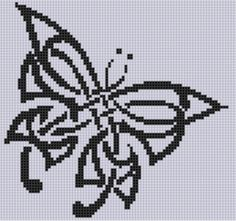 Celtic Butterfly Cross Stitch Pattern