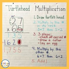 Fourth and Fritcher: Double-Digit Multiplication Strategies Multiplication Chart Printable, Lattice Multiplication, Two Digit Multiplication, Multiplication Activities, Math Math, Long Multiplication Method, Division Activities, Kids Math, Math Fractions