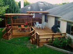 I like this partial covered deck | Matti could build this!