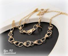 Gold #necklace infinity #jewelry - $130.00 - by RitaSunderland - #ArtFire #handmade #artisan http://www.artfire.com/ext/shop/product_view/mywaytosay/3715405/gold_neckalce_infinity_jewelry/handmade/jewelry/necklaces/wire_wrapped