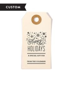 Winter Wonderland Customized Holiday Gift Tag Stamp - perfect for holiday packaging!