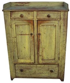 Early 19th century, Pennsylvania Jelly Cupboard, very unusual form with .