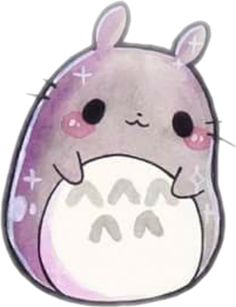 kawaii cute totoro - Sticker by 💙Life & Love💙 Cute Animal Drawings Kawaii, Cute Kawaii Animals, Kawaii Cat, Cute Drawings, Kawaii Nails, Kawaii Room, Kawaii Chibi, Kawaii Doodles, Cute Doodles