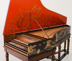 17th Century French Harpsichord  - Mechanism, etc