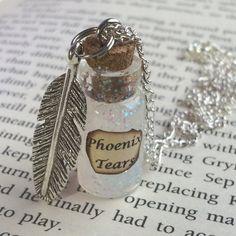 Phoenix Tränen Flasche Halskette von EnchantedBottleCraft auf Etsy