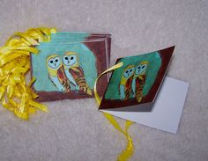 Golden Owl Gift Tags by Marie Logston. 12 1 by mariesimagination, $10.00
