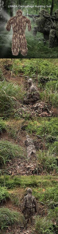 Ghillie Suits 177870: 3D Camouflage Leaf Clothing Hunting Camo Archery Ghillie Suit Set O7d0 -> BUY IT NOW ONLY: $31.27 on eBay!
