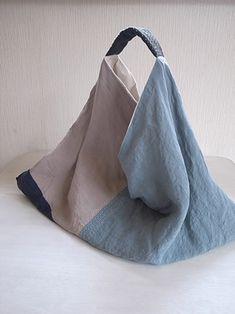 Bolsa de bolsa azul grande de la costura de la nostalgia