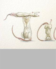 Your Name in Rats Custom original artwork rat drawing in
