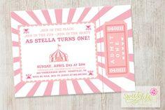 carnival theme birthday invitation