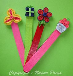 nupur creatives: Quilled Bookmarks..