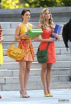 Leighton Meester wearing Tiffany Fleur De Lis Key Pendant, Nanette Lepore  Lady Gambler Printed Dress. Gossip Girl ... 43c810a50a