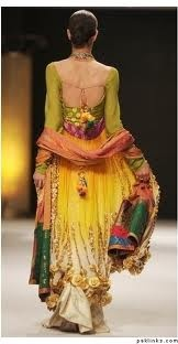 Mehndi Dress by Niloufer Shahid