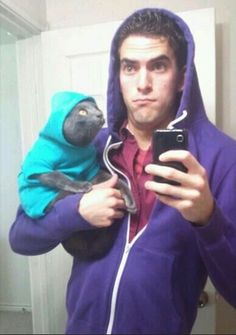 The Thug Life. | 49 Funny Pictures Of People Posing With Animals