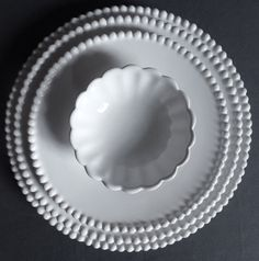 pearled plates - handmade in France since 1747